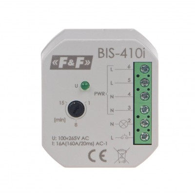 Bistabili relė ON/OFF, Un = 230V AC / DC, I = 16A, įėjimas (160A /20ms), kontaktas 1NC, tvirtinimo terminalas, 1 modulis - Ratechna.eu
